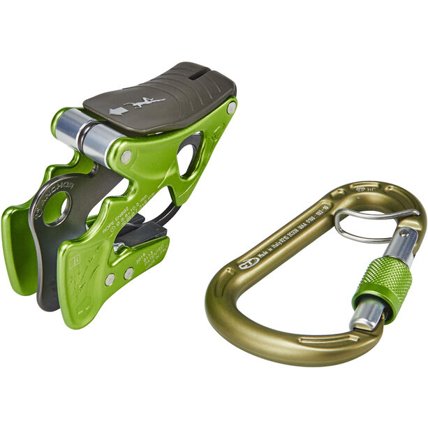 Climbing Technology Alpine-Up Belay Kit green