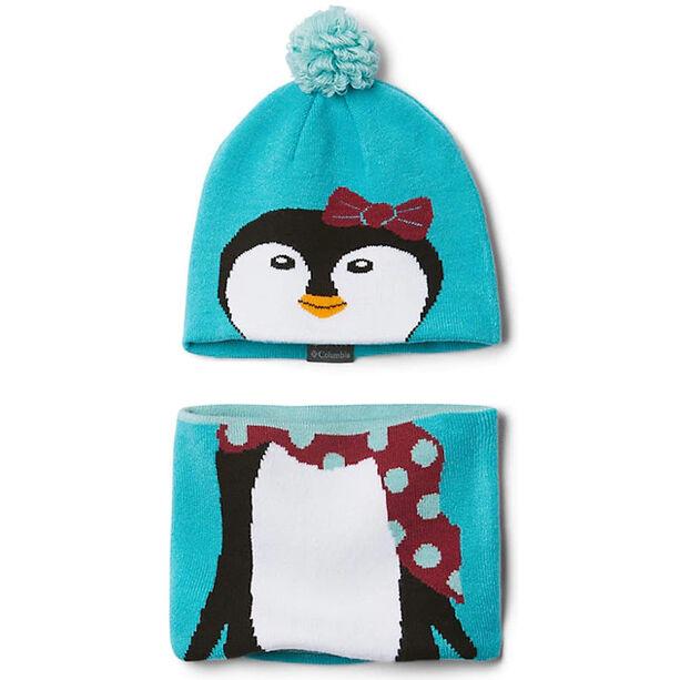 Columbia Snow More Mütze und Schal Set Kleinkind geyser penguin