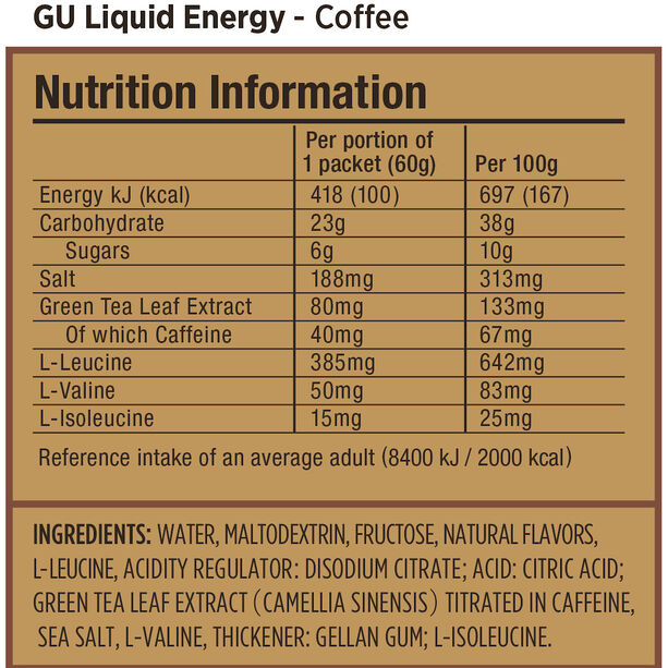 GU Energy Liquid Gel 24x60g Coffee