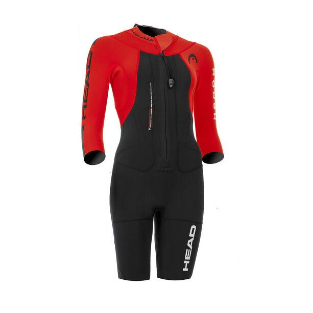 Head Swimrun Rough Shorty Suit Damen black-red