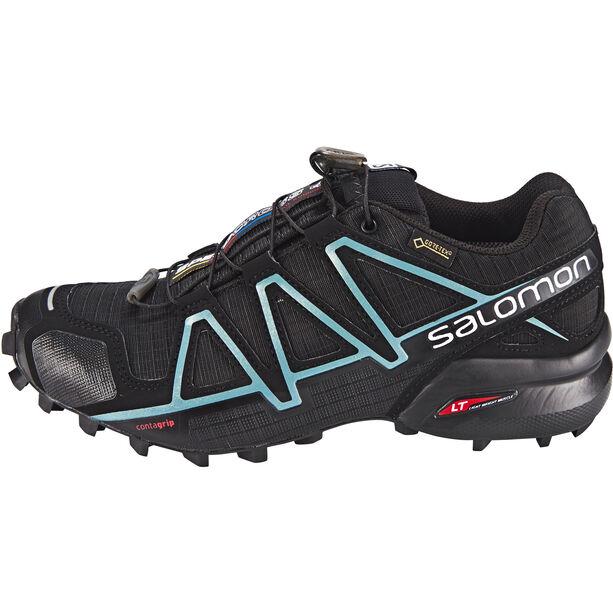 Salomon Speedcross 4 GTX Schuhe Damen black/black/metallic bubble blue