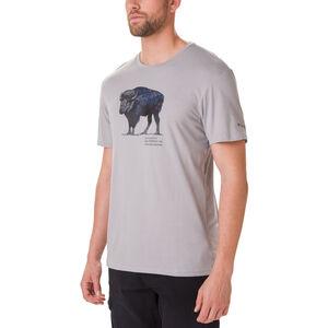 Columbia Muir Pass Kurzarm Graphic T-Shirt Herren columbia grey/buffalo camo columbia grey/buffalo camo