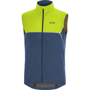 GORE WEAR R7 Partial Gore-Tex Infinium Vest Herren deep water blue/citrus green deep water blue/citrus green