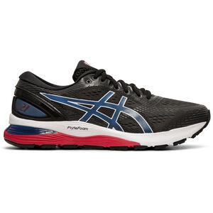 asics Gel-Nimbus 21 Shoes Herren black/electric blue black/electric blue