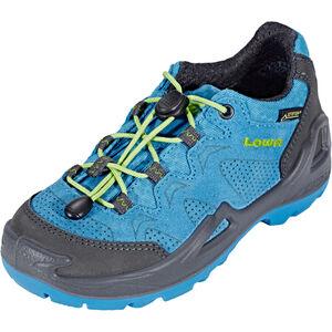 Lowa Diego GTX Low Shoes Kinder blue/lime blue/lime
