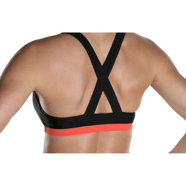 speedo HydrActive 2 Piece Bikini Damen black/orange