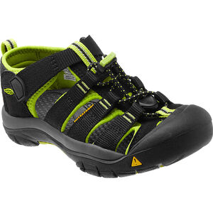 Keen Newport H2 Sandals Jugend black/lime green black/lime green