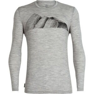 Icebreaker Tech Lite Remarkables LS Crewe Shirt Herren metro heather metro heather