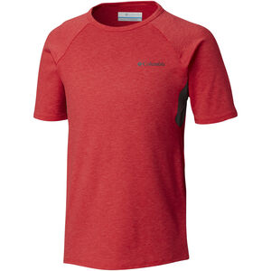 Columbia Silver Ridge II Shortsleeve Tee Jungs bright red heather bright red heather