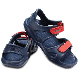 Crocs Swiftwater River Sandals Kinder navy/flame navy/flame