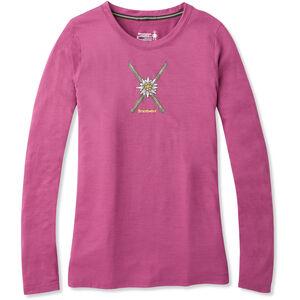 Smartwool Merino Sport 150 Powder Flower Langarm T-Shirt Damen sangria heather sangria heather