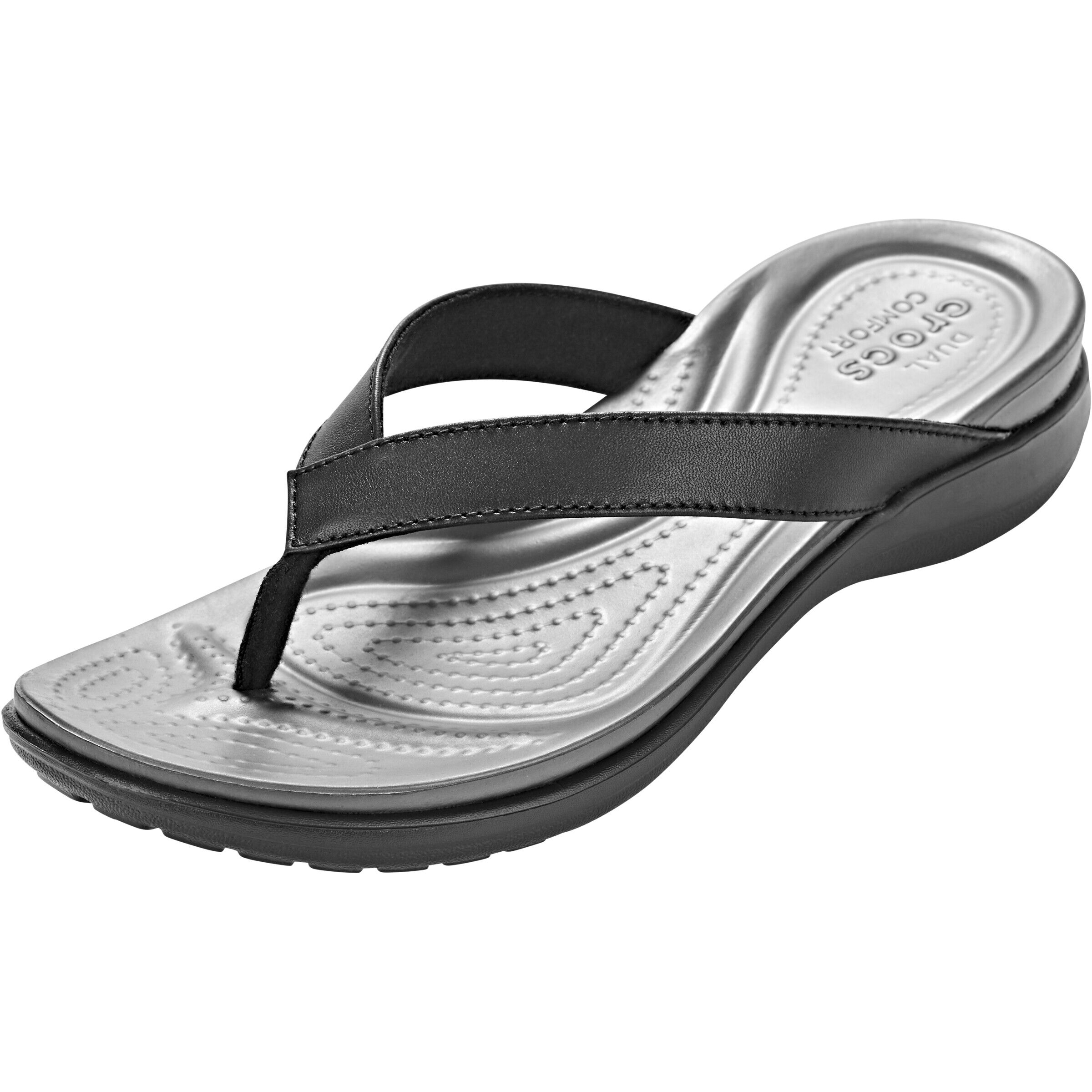 Crocs Capri V Flips Damen blackgraphite