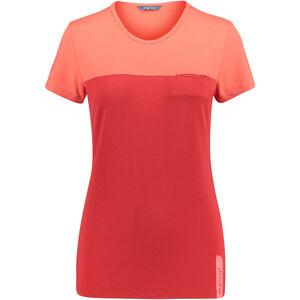 Meru Perama Jersey SS Shirt Damen cayenne/cherry cayenne/cherry