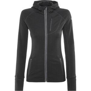 Icebreaker Quantum LS Zip Hood Jacket Damen black black