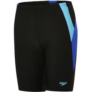 speedo Colour Block Jammer Jungs black/amparo blue/turquoise black/amparo blue/turquoise