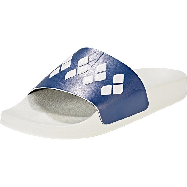 arena Team Stripe Slide Sandals white-navy-white