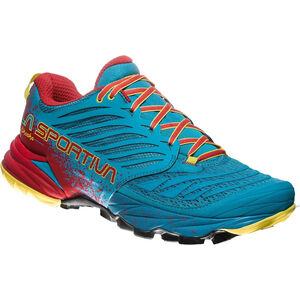 La Sportiva Akasha Running Shoes Herren tropic blue/cardinal red tropic blue/cardinal red