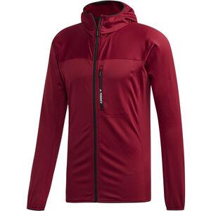 adidas TERREX TraceRocker Hooded Fleece Jacket Herren collegiate burgundy collegiate burgundy