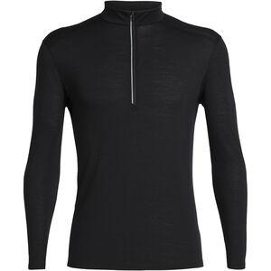 Icebreaker Amplify Langarm Half Zip Shirt Herren black black