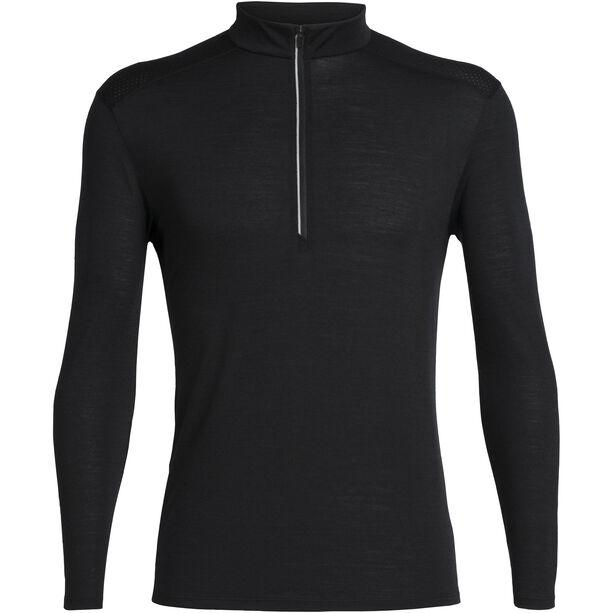Icebreaker Amplify Langarm Half Zip Shirt Herren black