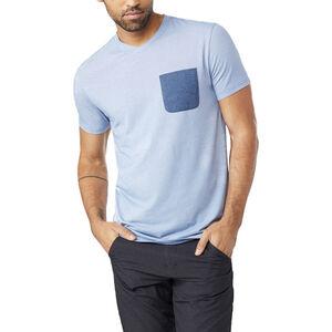 tentree Micro Boulder Pocket T-Shirt Herren delft blue micro stripe delft blue micro stripe