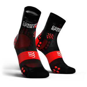 Compressport Pro Racing V3.0 Ultralight Run High Socks black/red black/red