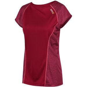 Regatta Hyper-Reflective SS T-Shirt Damen beetroot/beetroot reflective beetroot/beetroot reflective