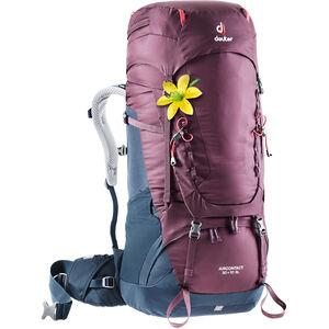 Deuter Aircontact 50 + 10 SL Backpack Damen blackberry-navy blackberry-navy