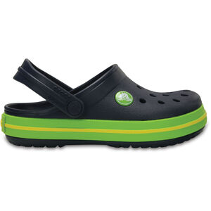 Crocs Crocband Clogs Kinder navy/volt green navy/volt green