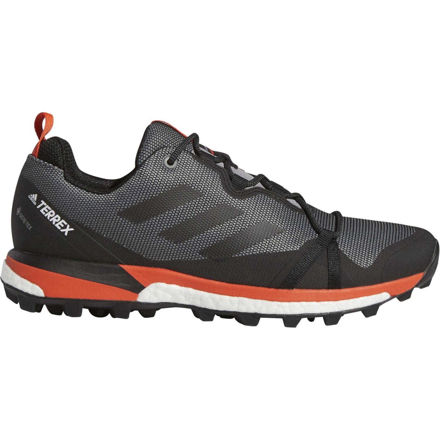 adidas TERREX Skychaser LT GTX Low Cut Schuhe Herren grey threecore blackactive orange