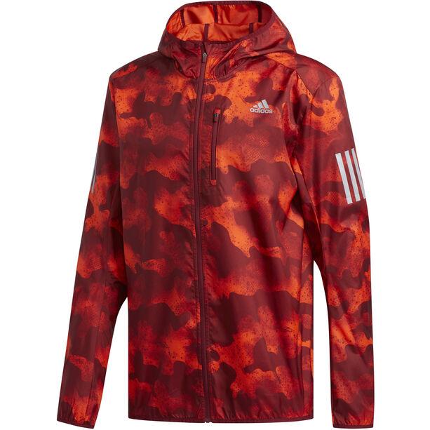 adidas Own The Run Light Jacke Herren active orange/active marine/collegiate burgundy