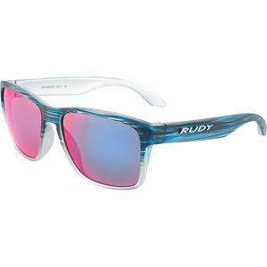 Rudy Project Spinhawk Glasses blue streaked matte - polar 3fx hdr multilaser red blue streaked matte - polar 3fx hdr multilaser red