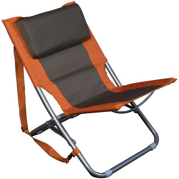 Basic Nature Travelchair Beach orange/braun
