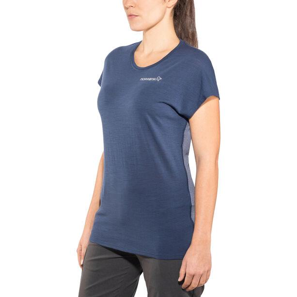 Norrøna Bitihorn Wool T-Shirt Damen indigo night