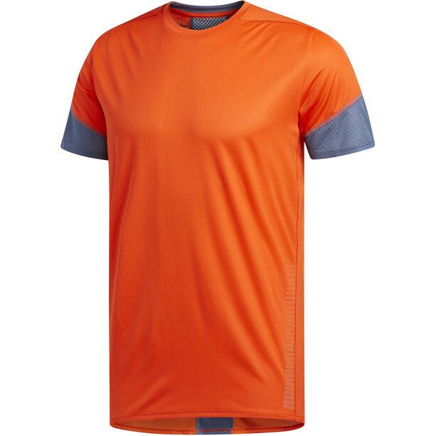 adidas 25/7 Rise Up N Run Kurzarm T-Shirt Herren active orange