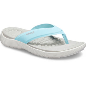 Crocs Reviva Flip Sandals Damen ice blue/white ice blue/white