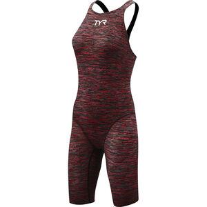 TYR Thresher Baja Open Back Swimsuit Damen red red
