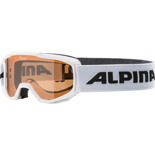 Alpina Piney Brille Kinder white/orange