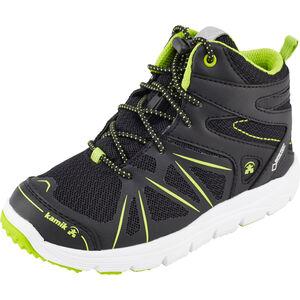 Kamik Fury HI GTX Shoes Kinder black/lime black/lime