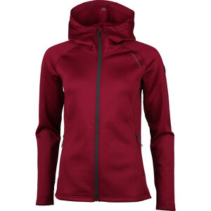 North Bend Vector Kapuzen-Fleecejacke Damen dark fuchsia dark fuchsia