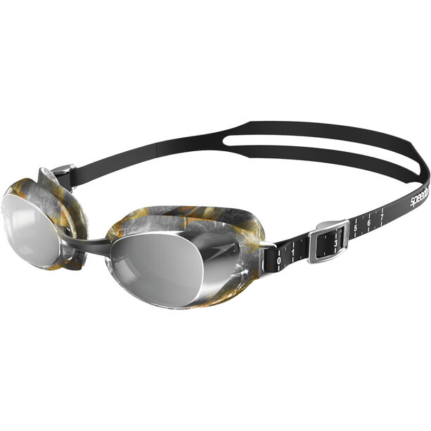speedo Aquapure Mirror V2 Goggles black/silver