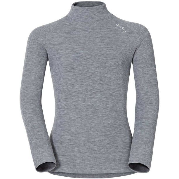 Odlo SUW Active Originals Warm Rollkragen Langarmshirt Kinder grey melange