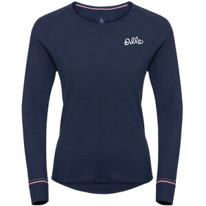 Odlo Active Originals Warm LS Rundhalsshirt Damen diving navy diving navy