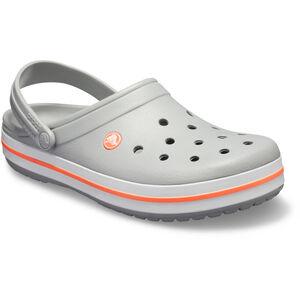 Crocs Crocband Clogs light grey/bright coral light grey/bright coral