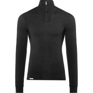 Woolpower 400 Zip Turtle Neck black black