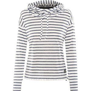 super.natural Funnel Hoodie Printed Damen fresh white/fine stripe print fresh white/fine stripe print