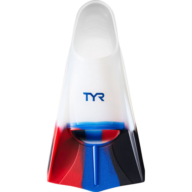 TYR Stryker Silicone Fins XXL navy/red/clear