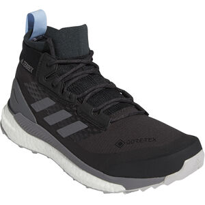 adidas TERREX Free Hiker GORE-TEX Wanderschuhe Damen carbon/grey four/glossy blue carbon/grey four/glossy blue