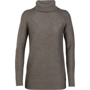 Icebreaker Waypoint Rollkragen Sweater Damen toast heather toast heather