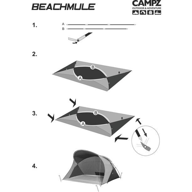 CAMPZ Beachmule Strandmuschel beige